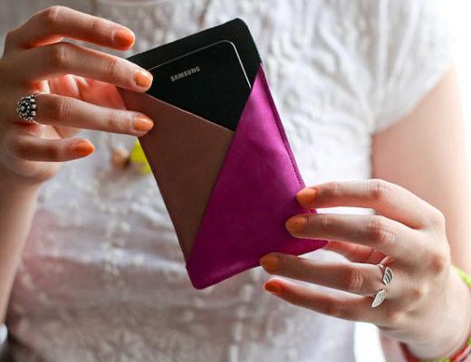 DIY tutoriel pochette smartphone en cuir