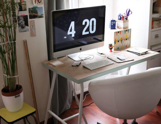 DIY bureau pieds IKEA