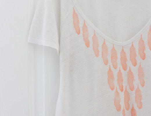 DIY Impression sur tee shirt tampon