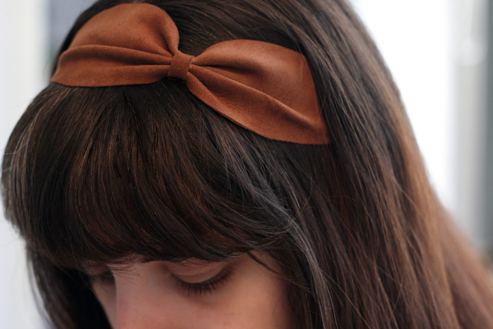Headband noeud en cuir