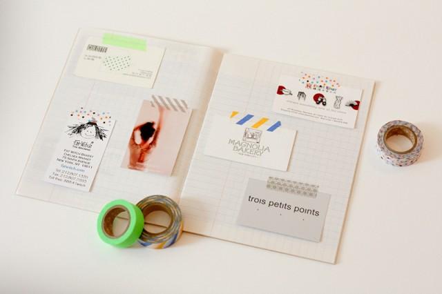 DIY Un Cahier Pour Cartes De Visite