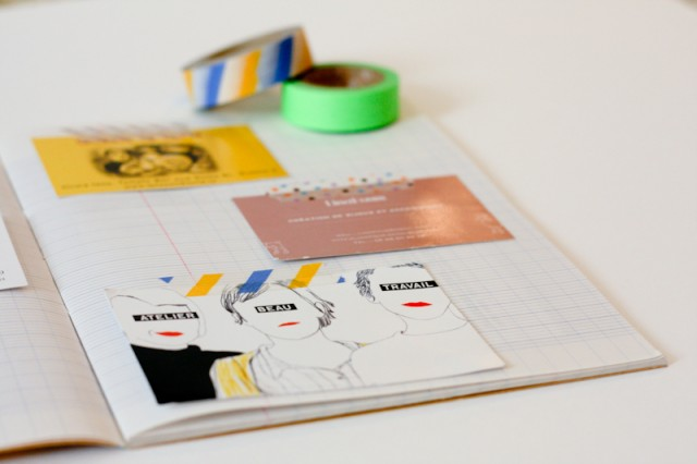 DIY Un Cahier Pour Cartes De Visite Morning By Foley