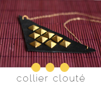 diy collier cuir clouté