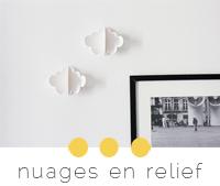 diy nuage papier relief mur