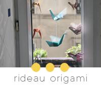 diy rideau origami