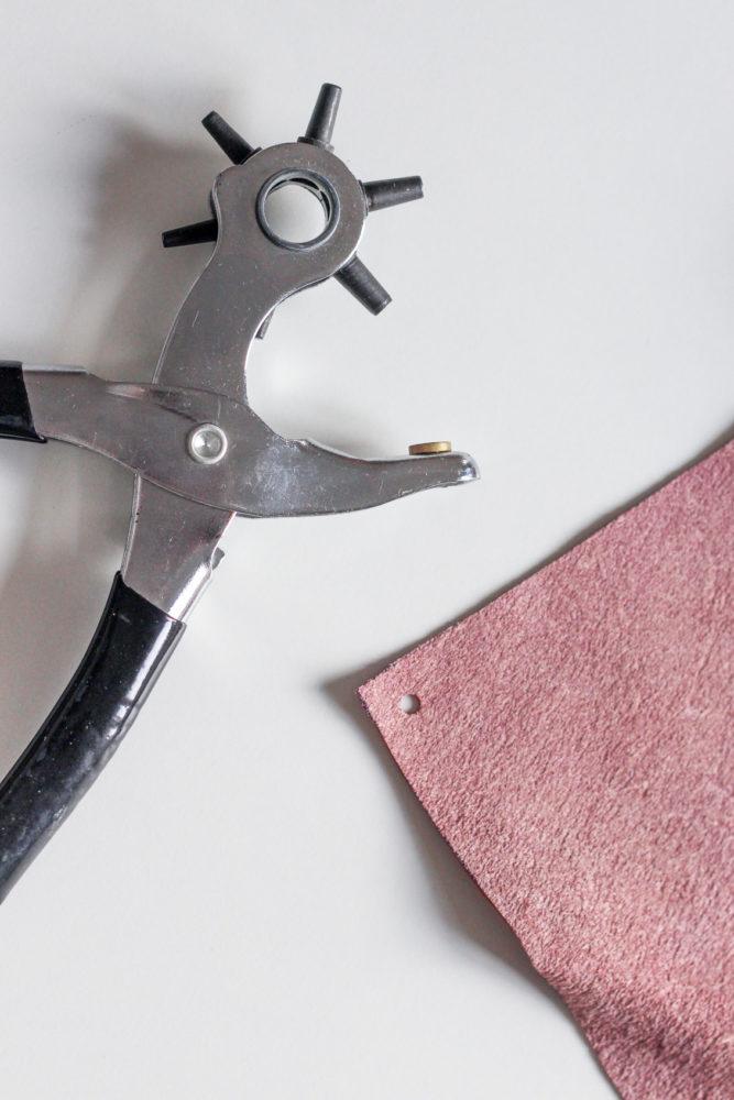 DIY percer un trou dans du cuir