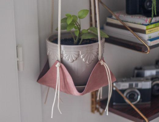 Tutoriel diy suspension plante en cuir et macramé