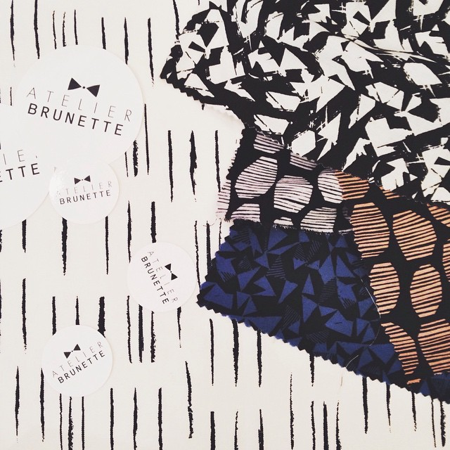 @atelierbrunette's beautiful fabric new collection ? #fabric #patterns