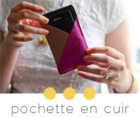 diy pochette smartphone en cuir