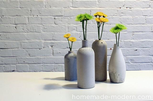 DIY vases en béton