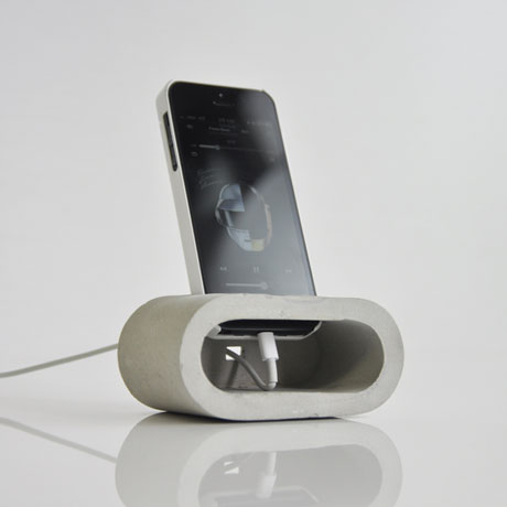 DIY dock d'iPhone en ciment hobbydesign